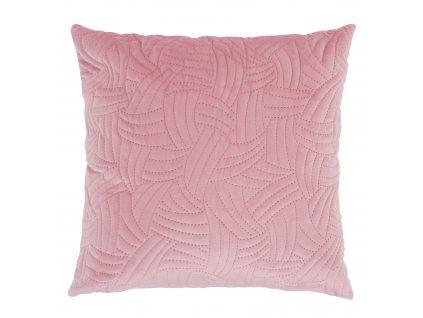 Povlak na polštář Velvet Pink Fan 45 x 45 cm MY HOME