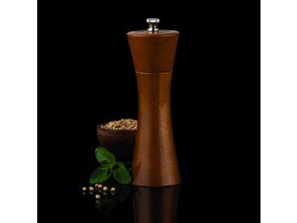 Mlýnek na pepř a sůl Madeira Ořech 18 cm AMBITION