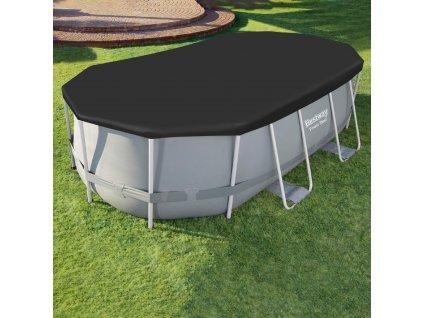 Kryt na oválný nadzemní bazén 427 x 250 cm BESTWAY