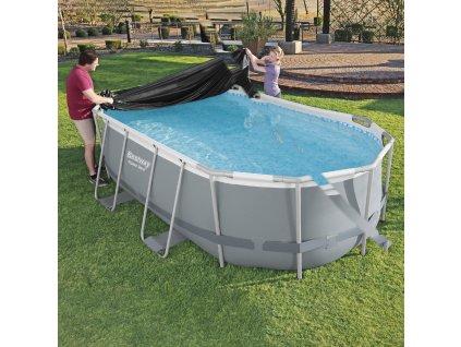 Kryt na oválný nadzemní bazén 305 x 200 cm BESTWAY