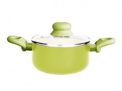 Hrnec s keramickým povlakem s poklicí Fusion Fresh Green 16 cm 1,25 l AMBITION