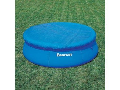 Kryt na nadzemní bazén s límcem 366 cm BESTWAY