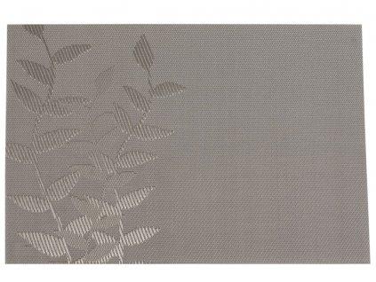Podložka na stůl Velvet Light Grey Twig PVC / PS 45 x 30 cm AMBITION