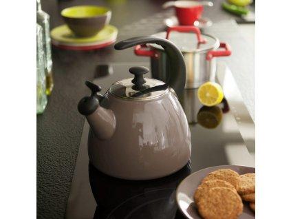 Smaltovaná čajová varná konvice Focus Fresh Taupe 2,5 l AMBITION