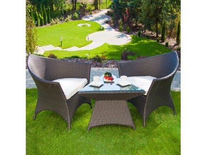 Souprava zahradního nábytku z technorattanu Caroline Wenge PATIO