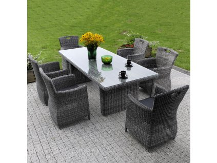 Zahradní stůl z technorattanu Elizabeth Ash 230 x 100 cm PATIO