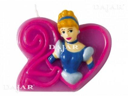 Narozeninová svíčka Disney ´s Princess 2 years DISNEY