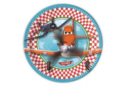 Sada 8 papírových talířů Letadla 19,5 cm DISNEY