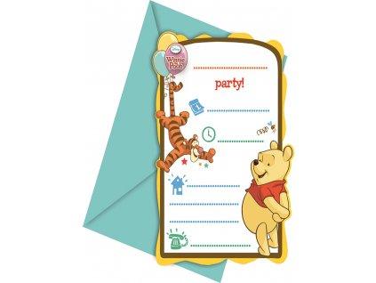 Sada 6 pozvánek s obálkou Medvídek Pú Sweet Tweets DISNEY