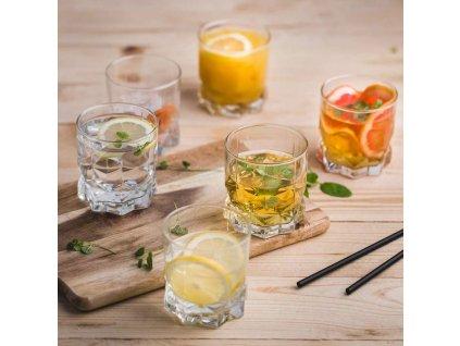Sada 6 nízkých sklenic na whisky Diamond 325 ml AMBITION