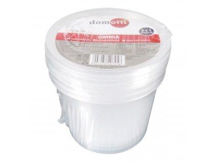 Sada 4 plastových nádobek Omnia 440 ml DOMOTTI
