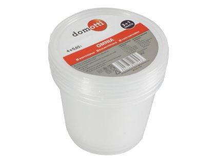 Sada 4 plastových nádobek Omnia 675 ml DOMOTTI