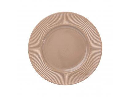 Keramický mělký talíř Palette Taupe 27 cm AMBITION
