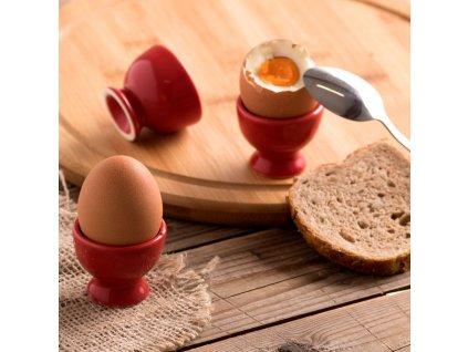 Kalíšek na vajíčko Fusion Fresh Red 5 cm AMBITION
