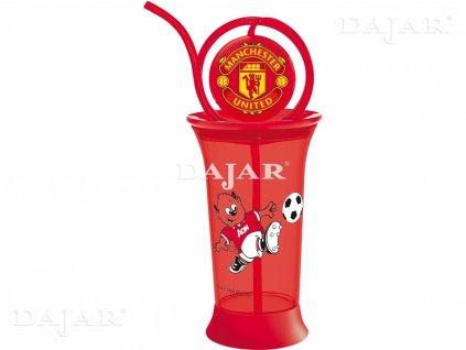 Sklenice s brčkem Manchester United 380 ml