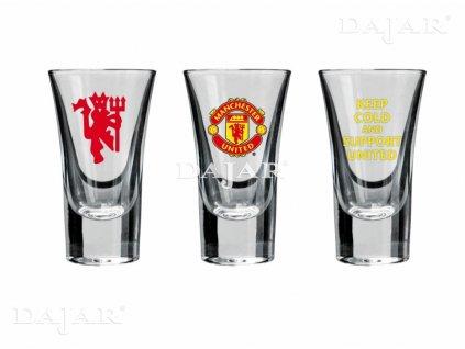 Sada 3 skleniček na vodku Manchester United Support United 50 ml