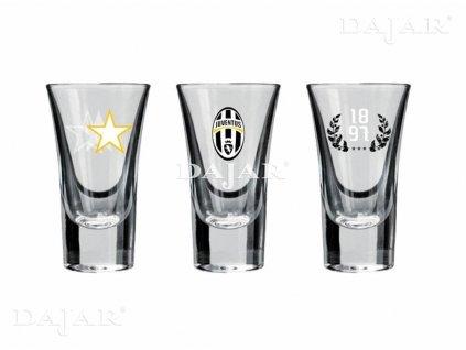 Sada 3 skleniček na vodku Juventus Since 1897 50 ml