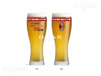 Sklenice na pivo Fame and Glory AC Milan 500 ml