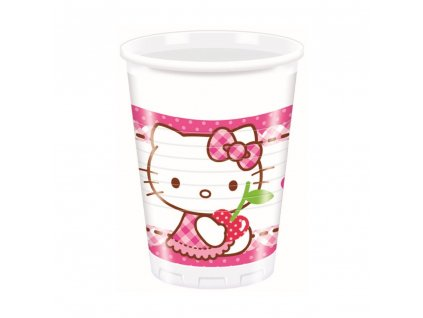Sada 8 kelímků Hello Kitty Hearts 200 ml DISNEY