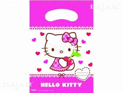 Sada 6 dárkových tašek fólie Hello Kitty Hearts DISNEY