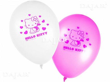 Sada 8 balónků s potiskem Hello Kitty Hearts DISNEY