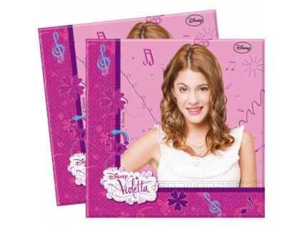 Sada 20 ubrousků Violetta 33 x 33 cm DISNEY