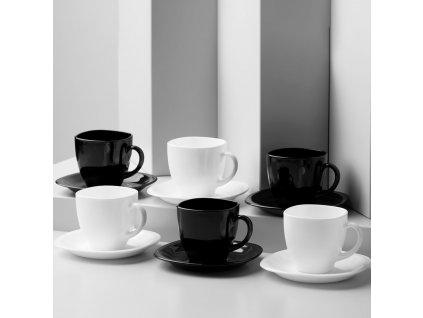 Kávový servis Carine White & Black 12-dílů LUMINARC