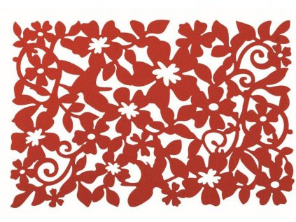 Podložka na stůl z plsti Fusion Fresh Red II. 30 x 45 cm AMBITION