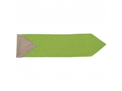 Bavlněný běhoun / štola Nature Green 150 x 40 cm AMBITION