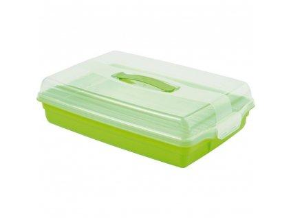 Dóza na koláč s víkem Green 45 x 29,5 x 11 cm CURVER