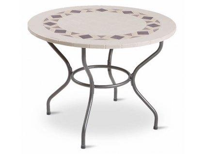 Kamenný zahradní stůl Roma Black Design 100 cm PATIO