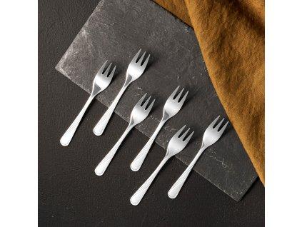 Sada 6 dezertních vidliček Napoli 13,5 cm AMBITION