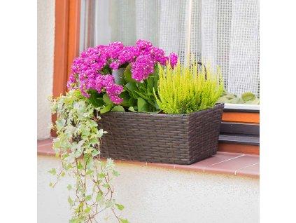 Květináč na balkón 49 x 16 x 14,5 cm PATIO