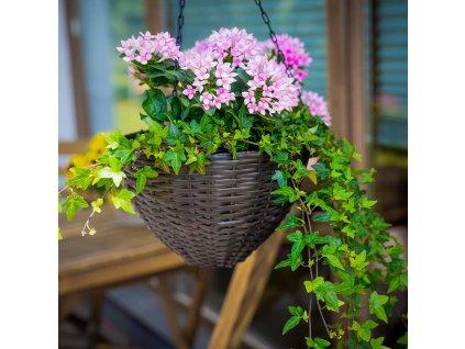 Sada 3 zahradních květináčů k zavěšení Wenge PATIO
