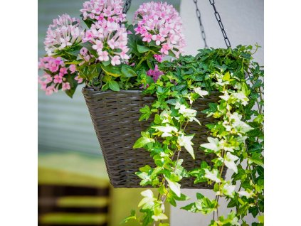 Sada 3 zahradních květináčů k zavěšení Black PATIO