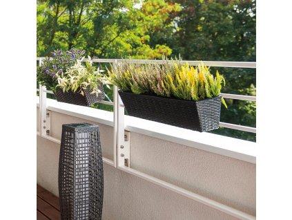 Květináč na balkón s vložkou 60 x 16 x 14 cm PATIO