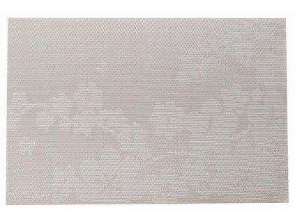 Podložka na stůl PVC / PS Dream Flower Silver 30 x 45 cm AMBITION