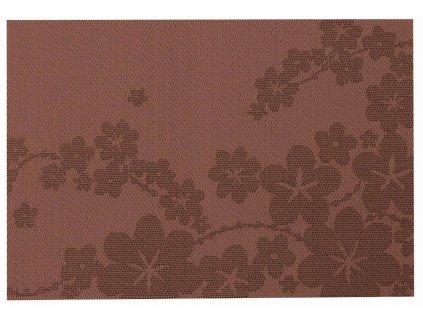 Podložka na stůl PVC / PS Dream Flower Brown 30 x 45 cm AMBITION