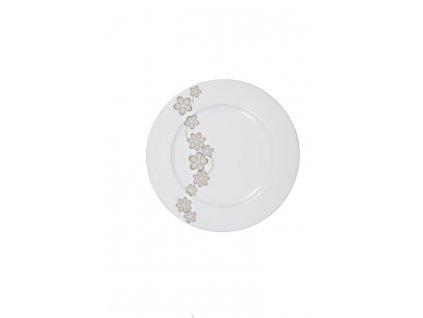 Dezertní talíř Dream Flower silver I. 19 cm AMBITION