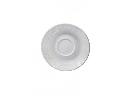 Podšálek Dream Flower light silver 14 cm AMBITION