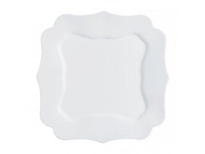 Mělký talíř Authentic White 25,5 x 25,5 cm LUMINARC