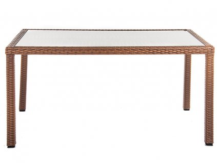 Zahradní stůl z technorattanu Loretta Cappuccino 150 x 90 x 76 cm PATIO