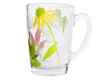Hrnek New Morning Pop Flowers Green 320 ml LUMINARC
