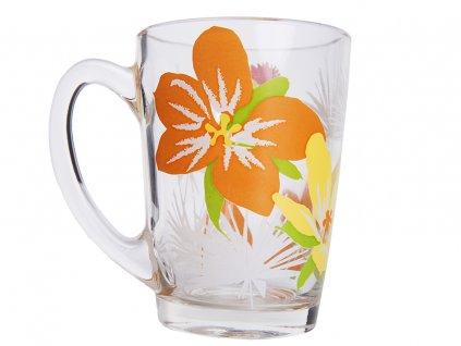 Hrnek New Morning Pop Flowers Orange 320 ml LUMINARC