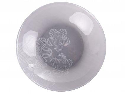 Hluboký talíř Dream Flower Gray 20 cm AMBITION