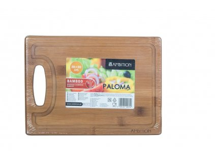 Bambusové prkénko na krájení s úchytem Paloma 28 x 20 x 1,5 cm AMBITION
