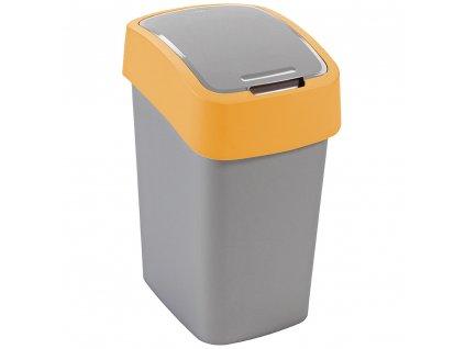 Odpadkový koš Flip Bin Gray / Orange 10 l CURVER
