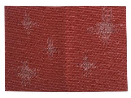 Podložka na stůl PVC / PS Velvet Red Stars 30 x 45 cm AMBITION