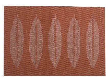 Podložka na stůl PVC / PS Velvet Red Leaf 30 x 45 cm AMBITION