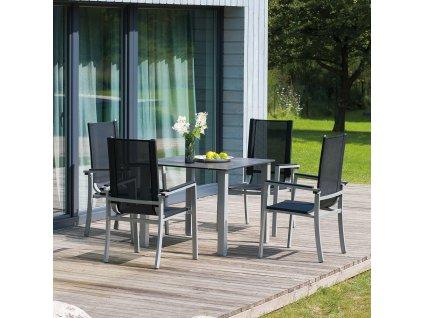 Zahradní hliníkový stůl Toscana 90 x 90 cm PATIO